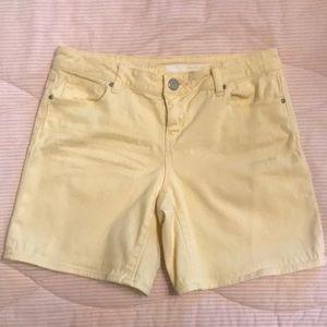 DKNY Yellow Denim Shorts